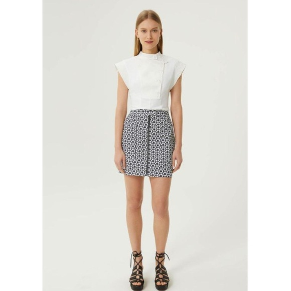 Rebecca Minkoff Marigold Stretch Cotton Miniskirt